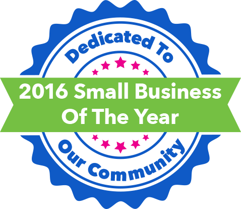 dedicated to our community - 2016 small business of the year award